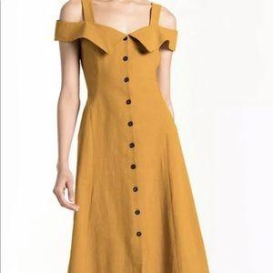 A.L.C Hudson Cold Shoulder Midi Dress, Size 0